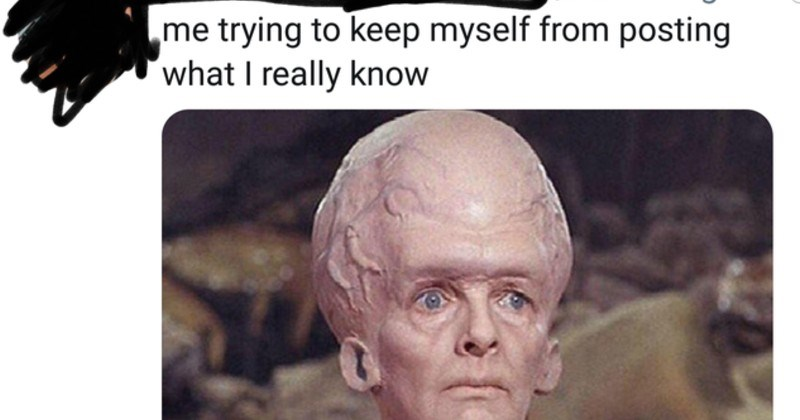 annoying and ridiculous people who believe they're smart | me trying to keep myself from posting what I really know Star Trek big brain aliens Talosians