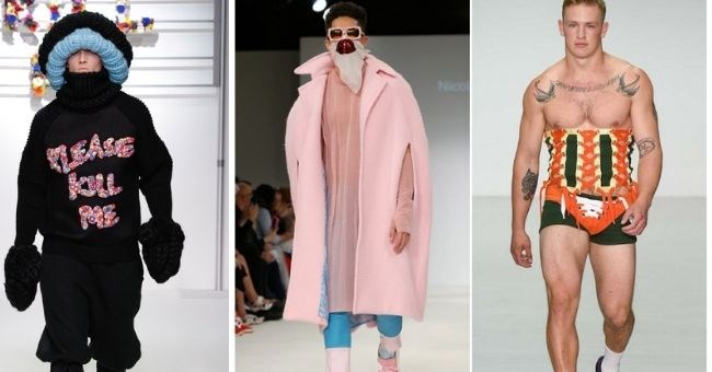 pictures of bad men's weird and flamboyant catwalk looks