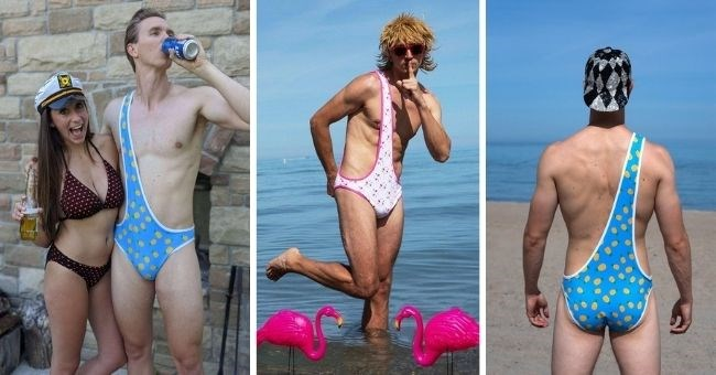 pictures of men wearing brokinis