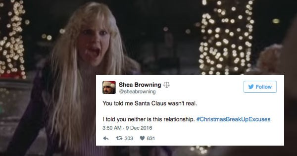 christmas twitter FAIL holiday breakup funny dating - 1246725