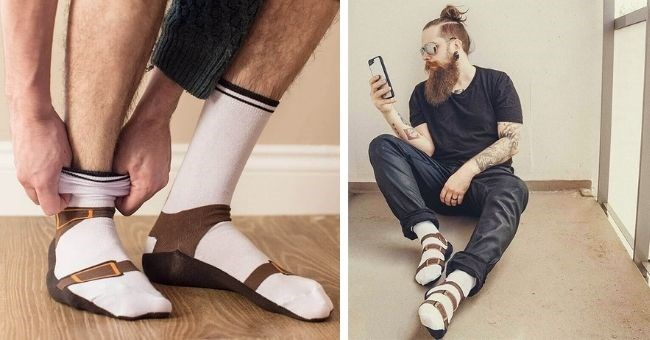 fashion fail pictures of sandal socks
