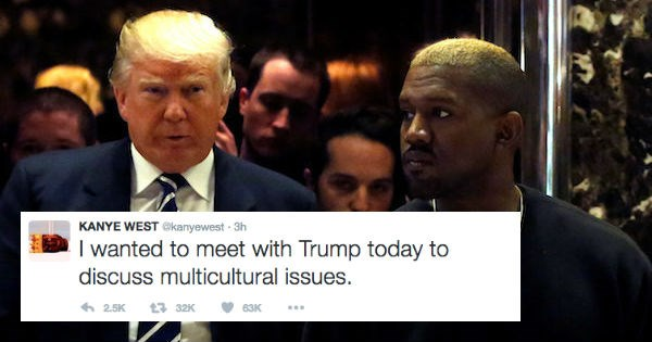 twitter FAIL donald trump kanye west reactions politics
