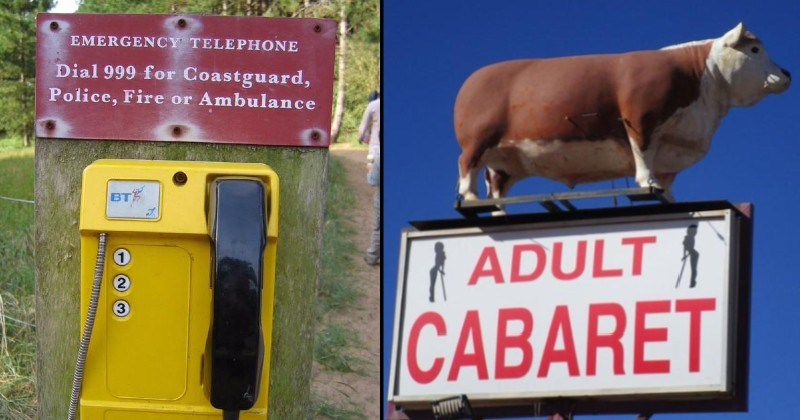 Stupid and funny design failures | EMERGENCY TELEPHONE Dial 999 Coastguard, Police, Fire or Ambulance | ADULT CABARET