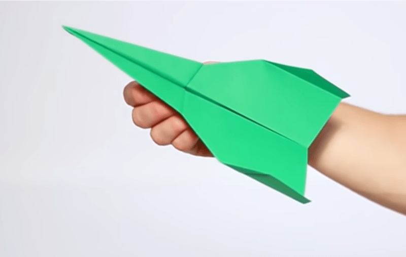 jet paper airplane tutorial with gifs