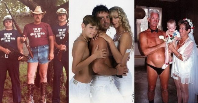 Awkward dad pics - thumbnail includes three pictures of dads with their family