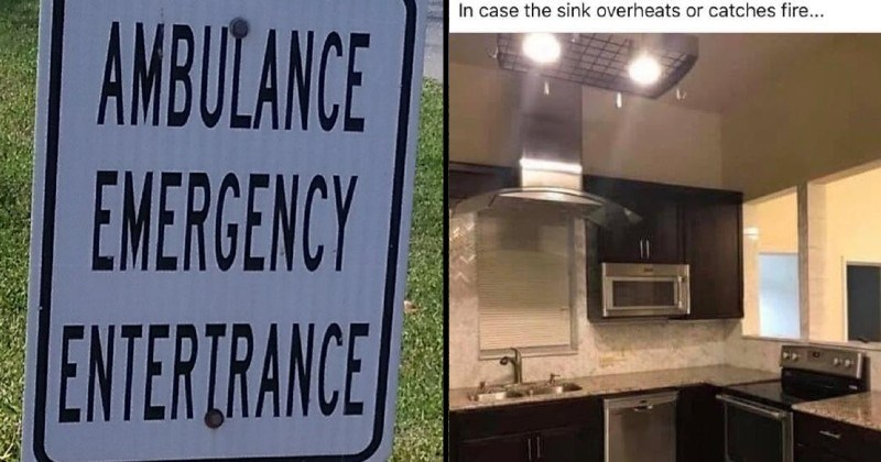 funny not my job fail moments | AMBULANCE EMERGENCY ENTERTRANCE | case sink overheats or catches fire kitchen design not thought out properly