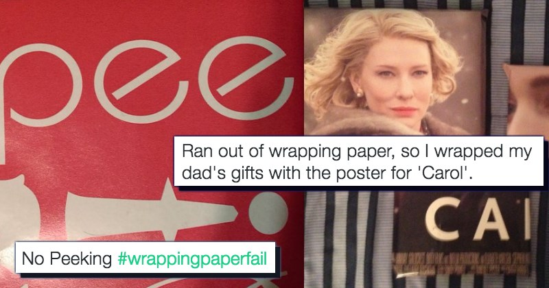 FAILS wrapping paper christmas gifts list trolling