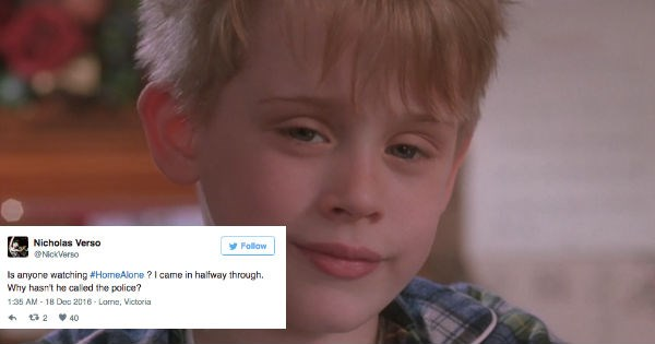 christmas twitter Home Alone movies plot holes funny