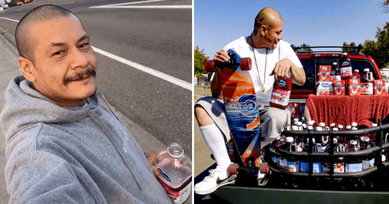 Ocean Spray gifts TikTok star Nathan Apodaca a Nissan truck after 420doggface208, cranberry juice, fleetwood mac, mick fleetwood, dreams, viral | man from viral clip skateboarding while lip syncing to fleetwood mac in a truck filled with bottles