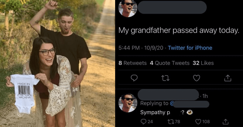 Funny photos of people being trashy, bad tattoos, dumb people, stupid people, cringe, fail | My grandfather passed away today. Sympathy pussy? | pregnancy photoshoot