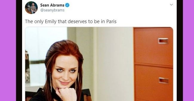 Emily In Paris memes that prove people aren't a fan   thumbnail includes two memes Text - Sean Abrams @seanybrams The only Emily that deserves to be in Paris