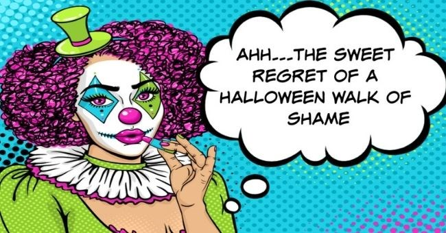 dating stories about halloween walks of shame | AHH... THE SWEET REGRET OF A HALLOWEEN WALK OF SHAME | crashed at sorority house and since pretty hot that weekend only wore pair of underwear under my costume. didn't think would be issue because would be going home. had to walk back my house still dressed giant penis