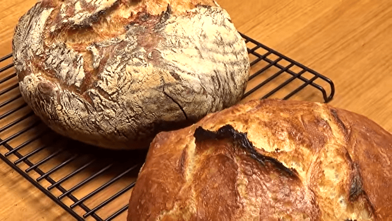 making rustic bread at home gifs
