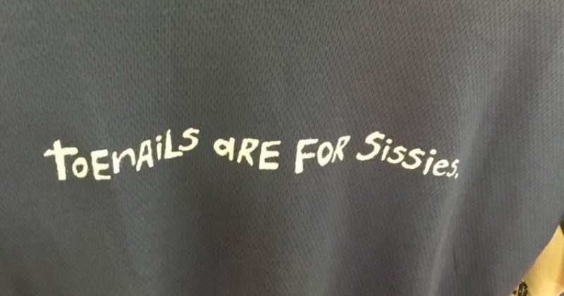 A collection of cursed shirts that never should've been created | toenails are for sissies