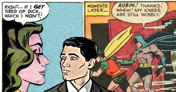 archer reactions to funny moments from comics that appear inappropriate outside of context