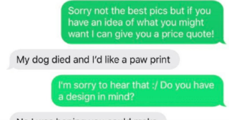 Choosing beggar demands extra, and it backfires terribly | Sorry not best pics but if have an idea might want can give price quote! My dog died and l'd like paw print sorry hear Do have design mind? No hoping could make something. Sure, are thinking putting this on car have white vinyl usually charge make design but can do part free just have pay vinyl and shipping cost. Yes. On back our Range Rover is white so white would be good.