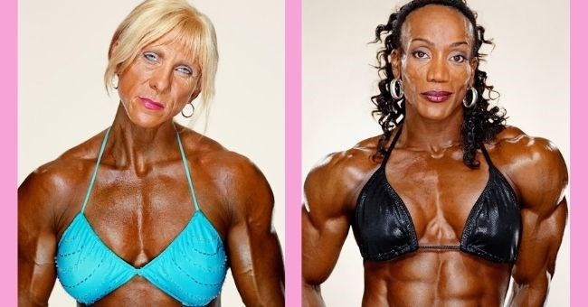 striking portraits of female bodybuilders | thumbnail includes two images of female bodybuilders