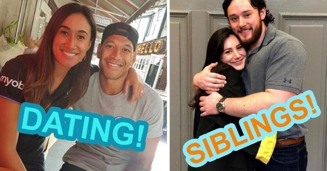 funnty instagram account asks followers to vote if picture of two people are dating or siblings | thumbnail includes two pictures of couples Text - DATING! SIBLINGS!