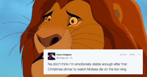 Sad christmas FAIL mufasa reactions lion king - 1287173