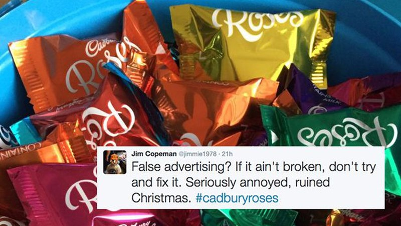 twitter cadbury roses Cadbury reactions British angry chocolate - 1289989