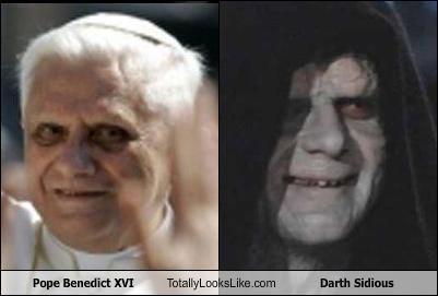 Pope Benedict Xvi Totally Looks Like Darth Sidious Cheezburger