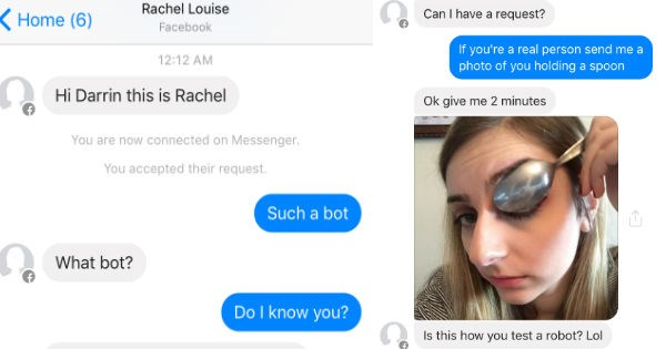 Guy gets hit on by bot and responds very well.