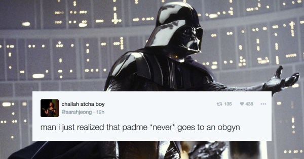 Funny girl live tweets watching Star Wars and how Darth Vader could have been avoided.