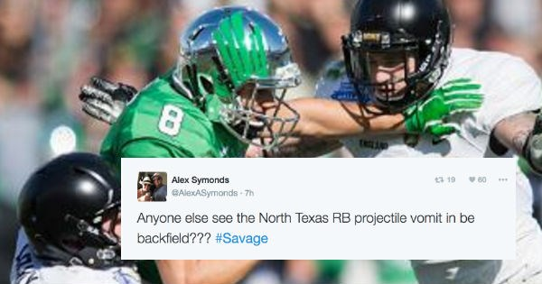 vomit twitter FAIL reactions sick football college