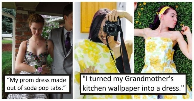 """people who made incredible outfits from recycled materials 