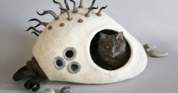 bed,felt,etsy,felted,Cats,crafts