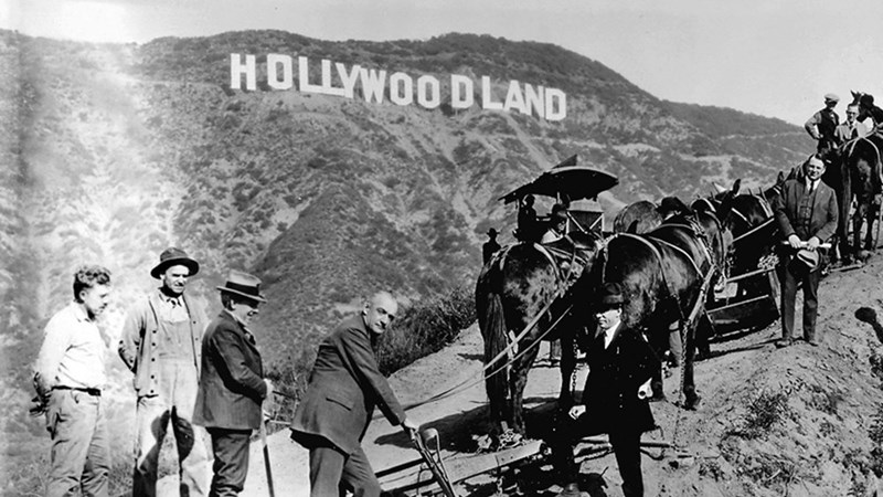 history of the famous hollywood sign and how it evolved over the years