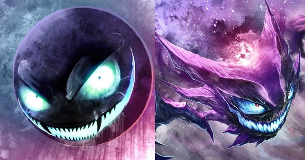 Pokémon,Fan Art,gastly