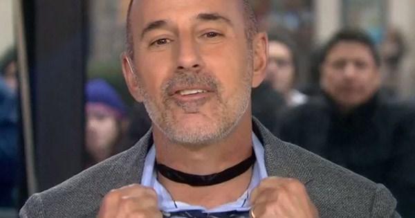 Matt Lauer cringeworthy flex about wearing a choker