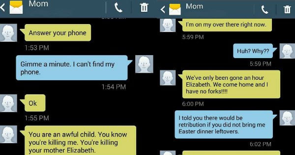 troublemaker FAIL texts conversation parenting funny - 1320965