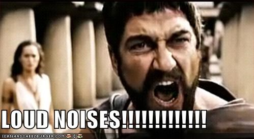 LOUD NOISES!!!!!!!!!!!!! - Cheezburger - Funny Memes | Funny Pictures
