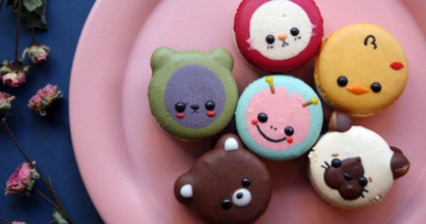 macarons cute pastry dessert food animals - 1328645