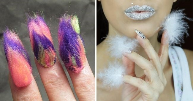 beauty blunder of the week: furry nails | thumbnail includes two images of furry nails