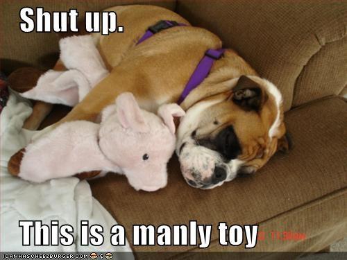 bulldog cute nap toy - 1341932800