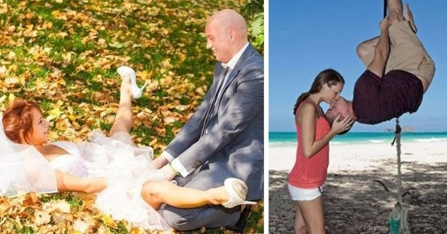 weird wedding and engagement photos from romance hell