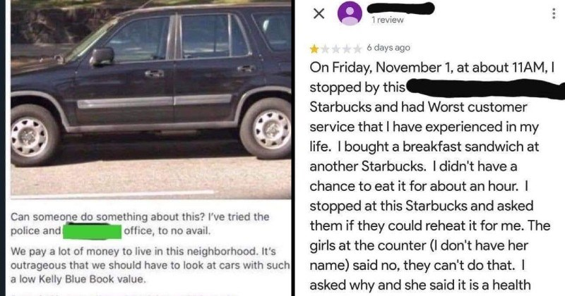 entitled people with ridiculous demands