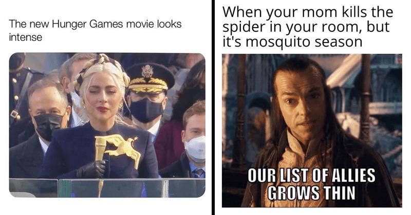 Funny random memes, inauguration memes, dank memes, relatable memes, stupid memes, lady gaga, hunger games, elrond, lord of the rings, hugo weaving
