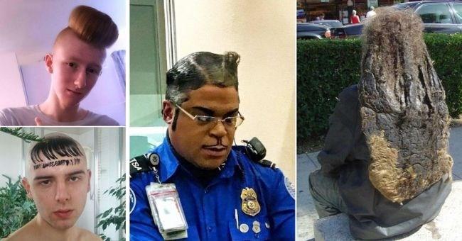 funny mens bad hair style pics | thumbnail image of four mens haircuts