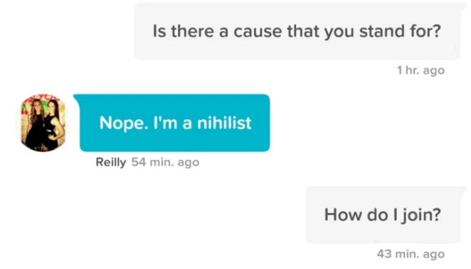 witty banter tinder conversation funny dating - 1347845