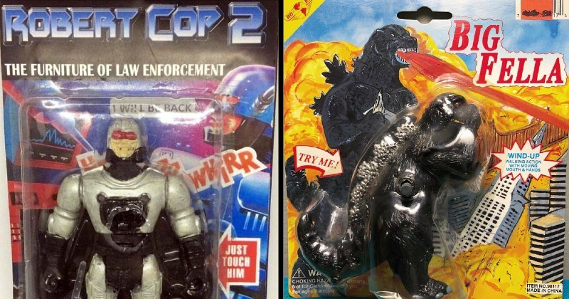 funny and amazing bootleg and knockoff toys | ROBERT COP 2 FURNITURE LAW ENFORCEMENT I WILL BE BACK JUST TOUCH HIM | BIG FELLA TRY WIND-UP WALKING ACTION WITH MOVING MOUTH HANDS WA CHOKING HAZ Not far Children Por ages and o parts ITEM NO.98117 MADE CHINA