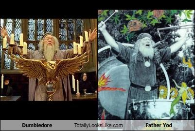 dumbledore,Father Yod,Harry Potter,James Edward Baker,Michael Gambon