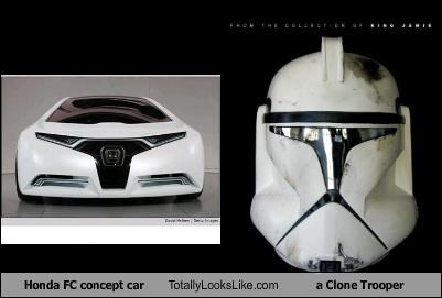 cars,Clone Trooper,Concept Car,Honda FC,star wars