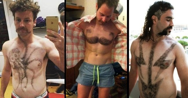 men share pictures of their chest hair art