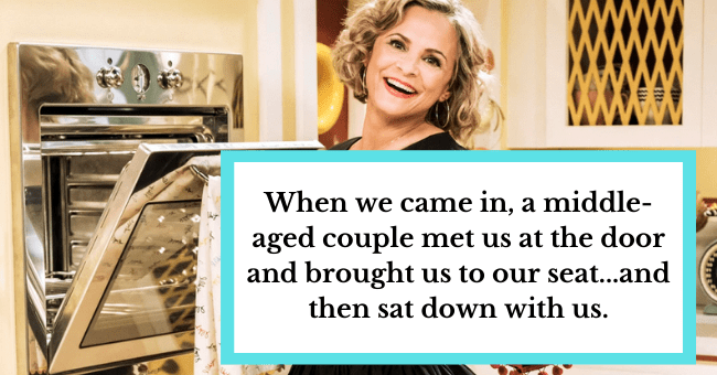 "The Time I had a First Date on Valentine's Day with the Guy's Parents| thumbnail text - ""Barb and Maury were grinding up on each other like a couple of teenagers. It would have been sweet if they didn't keep glancing over at me."""