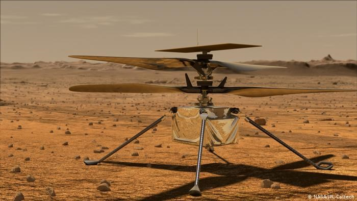 NASA is testing a helicopter on Mars to see if space flight is possible
