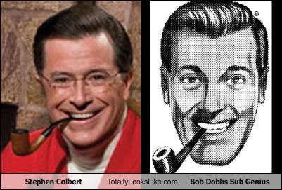 Bob Dobbs politics stephen colbert the colbert report - 1362757376